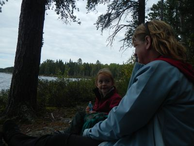 Sitting on the shores of Big moose lake